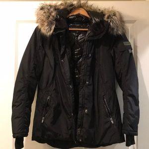 Obermeyer jacket with fur lined hood -size 8